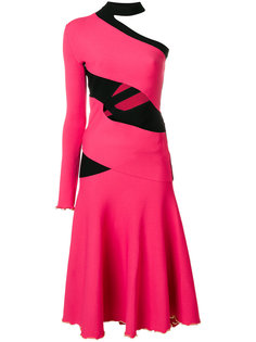 One Sleeve Bandage Knit Dress Proenza Schouler