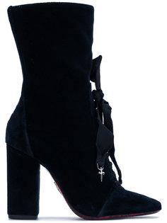 ботильоны со шнуровкой и бантом Cesare Paciotti
