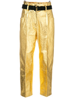 укороченные брюки с металлическим отблеском Petar Petrov