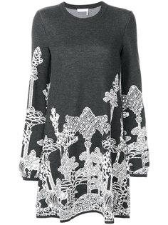 вязаное платье с деревьями Chloé