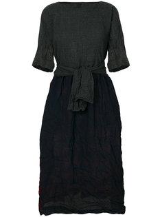 платье со вставкой в клетку  Daniela Gregis