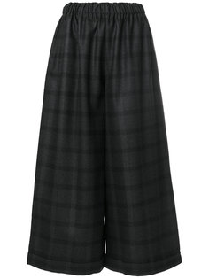 широкие брюки с принтом тартан  Daniela Gregis
