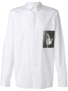 рубашка с принтом руки Helmut Lang
