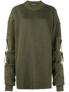 трикотажный свитер свободного кроя со съемными рукавами Y / Project