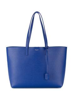 синяя кожаная сумка-шоппер Saint Laurent