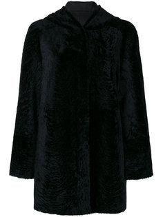 двухстороннее пальто с капюшоном  Drome