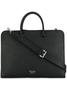 сумка-почтальонка с верхними ручками Prada