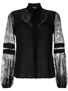 блузка с кружевными рукавами Elie Saab