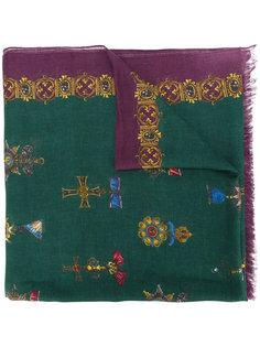 шарф с рисунком Royal Dolce & Gabbana