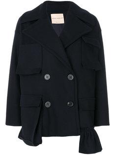 двубортное свободное пальто Erika Cavallini