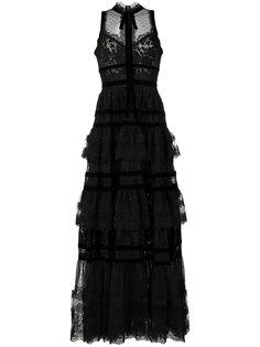 многоярусное кружевное вечернее платье Elie Saab