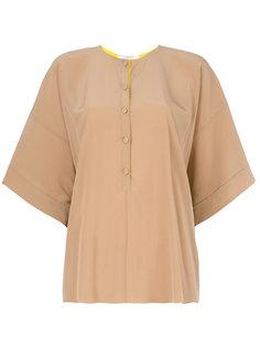 расклешенная блузка на пуговицах Givenchy