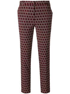 узкие брюки с тканым геометрическим узором Kiltie