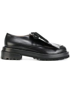туфли-оксфорды с бахромой Marni