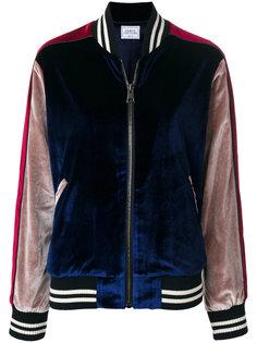 куртка-бомбер  с заплаткой в виде тигра Forte Couture