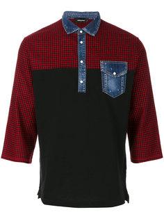 футболка-поло с джинсовым воротником Dsquared2