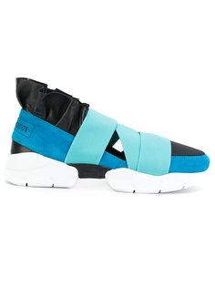 кроссовки с ремешками и оборочной отделкой Emilio Pucci