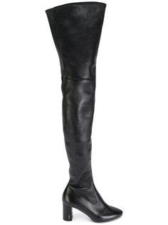 ботфорты с миндалевидным носком Saint Laurent