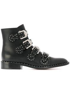 ботинки с пряжками и заклепками Givenchy
