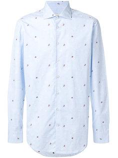 рубашка с узором из бабочек и жуков Etro