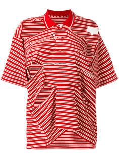 полосатая футболка-поло с резным дизайном Maison Margiela