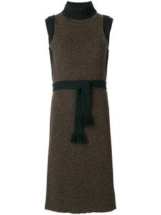 платье сложного кроя с высоким воротом Maison Margiela