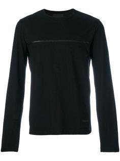 свитер с отделкой в полоску Prada