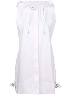 поплиновая рубашка с капюшоном  Paco Rabanne