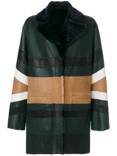 пальто с контрастной панелью  Drome