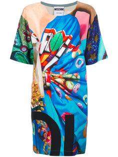 платье-футболка с принтом Fruit Loop Moschino