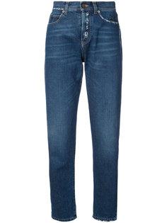 джинсы с протертыми деталями Saint Laurent
