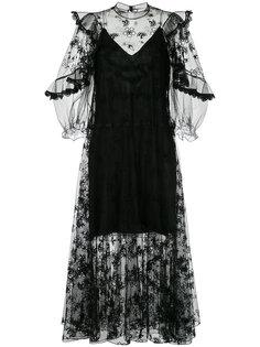 платье с вышивкой  Chloé