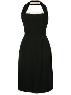 двухслойное платье с необработанными краями Comme Des Garçons
