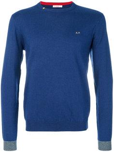 свитер с контрастными манжетами Sun 68