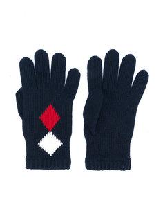 перчатки с ромбовидным узором Moncler