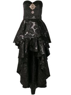 платье-бюстье с двухслойной юбкой  Christian Pellizzari