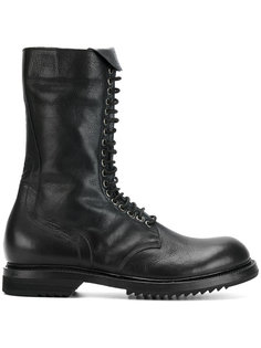 армейские сапоги со шнуровкой Rick Owens