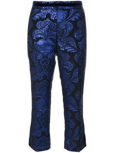жаккардовые укороченные брюки  Christian Pellizzari