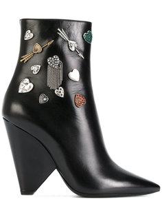 декорированные ботинки Niki 85 Saint Laurent
