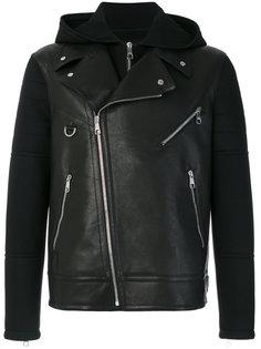 байкерская куртка с капюшоном  Neil Barrett