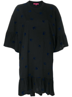 платье с ласточками  McQ Alexander McQueen