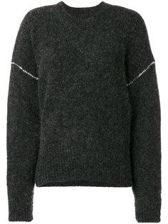 вязаный свитер с многослойными рукавами Mm6 Maison Margiela