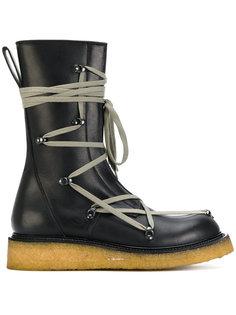 сапоги со шнуровкой Rick Owens