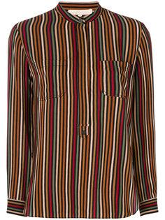 "рубашка с воротником-""мандарин"" в полоску Vanessa Bruno"