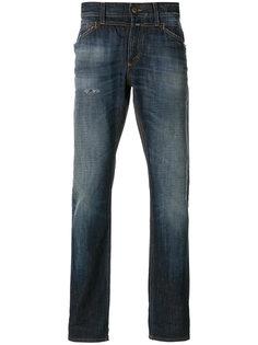 джинсы средней посадки с подворотами Closed