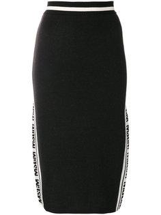 юбка-карандаш с боковым логотипом MSGM