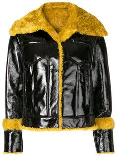 куртка с контрастной меховой отделкой  Drome