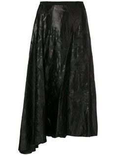 асимметричная юбка-миди с тиснением в виде листьев Maison Margiela