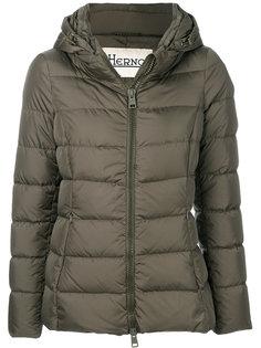 дутая куртка со съемным капюшоном  Herno
