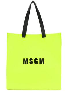сумка-тоут с принтом логотипа MSGM